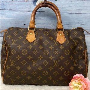 Authentic Louis Vuitton Monogram Speedy 30 Bag